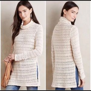 Anthropologie Knit Mockneck Sweater